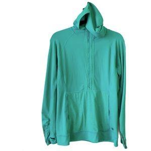 NewBalance Hoodie Outdoor Workout Pullover Green L